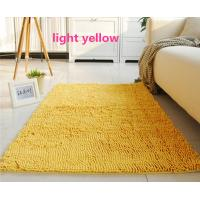 Yellow Living Room Handmade Tufted Polyester Chenille Microfiber Area Rug Manufactures
