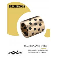 C86300 430B Manganese Cast Bronze Flanged Graphite Bushing Bearing & Plate Oil Grooves Manufactures