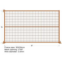 "6FT X 9FT ""Montreal"" TEMPORARY FENCE Tubing 25mm x 1.2mm Mesh 2""x4"" Diameter 8ga wire/4.00mm powder coated Orange Manufactures"