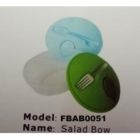 FBAB0051 for wholesales food-grade PP material salad bowl with fork Manufactures