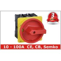 Industrial 100A Motor Isolator Switch , DIN Rail Based Mounting Manufactures