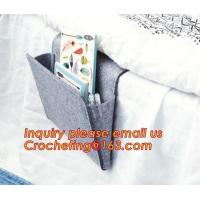 whoelsale felt Bedside Caddy bulk buy from China, High quality organzier grey felt bedside caddy for home decor Manufactures