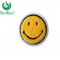 China Smiling Face Chenille Embroidery Patches No Minimum Various  Color on sale