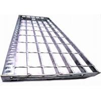 China Galvanized Serrated Galvanized Stair Tread, Anti Slip Steel Grate Stair Treads for sale