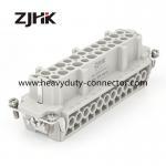 HE 24Pin heavy duty rectangular connectors screw insert for hot runnner temperature controller Manufactures