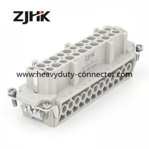 HE 24Pin heavy duty rectangular connectors screw insert for hot runnner temperature controller
