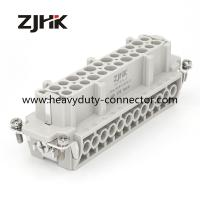 Quality HE 24Pin heavy duty rectangular connectors screw insert for hot runnner temperature controller for sale