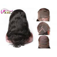 Light Brown 360 Frontal Wig With Baby Hair , Natural Raw Indian Hair Body Wave 18 Inch Manufactures