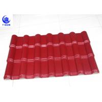 Embossed Surface Red Synthetic Resin Roof Tile 219 mm Pitch Size Manufactures