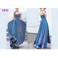 China The starry sky skirt spaghetti strap a line evening formal party dress on sale