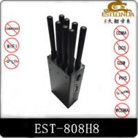 8 Antenna Handheld Metal Shell GPS Signal Jammer Block 2G / 3G / 4G / Wifi with Battery inside Manufactures