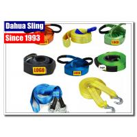 5cm X 4.5m Vehicle Recovery Strap With Hooks , 5 Ton Load Nylon Tow Strap For Car Manufactures
