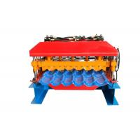 Colorful Steel Profile Roll Forming Machine , Glazed Tile Machine For House Roofing Making Manufactures