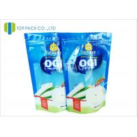 Blue Clear Front 500g Stand Up Food Pouches , Powder Plastic Bag Packaging Food Grade Manufactures