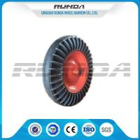 16 Inch Solid Rubber Wheels Black Tyre Color Steel Rim 150kg Loading For Tractor Manufactures