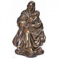 China Garden Metal sculpture Jesus & children bronze statues,customized bronze statues, China sculpture supplier on sale