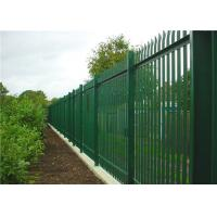 Hot Dip Galvanized Steel Palisade Fencing Panels D Pale 2.4m High Manufactures