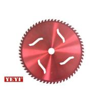 Red Powder Coating Carbide Brush Cutter Blade For grass , TCT circular 40 tooth saw blade Manufactures