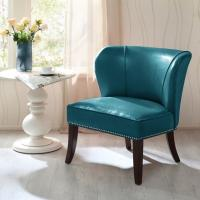 Overstuffed Upholstered Accent Chairs , Leather Accent Lounge Chair With Armless Manufactures