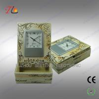 PU desktop alarm clock with storage box made in china Manufactures