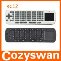 2.4GHZ Wireless Air Fly Mouse RC12 Remote Control Touchpad Keyboard  for Google Android Manufactures