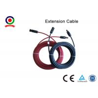 China Excellent Flexibility 6mm Solar Panel Cable High Electrical Conductivity With  Connector on sale