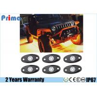 China Amber LED Rock Light Kits with 6 pods Lights for Jeep Off Road Truck Car ATV SUV Yellow on sale