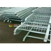 Offices / Schools Serrated Steel Grating 65mm Bearing Bar Pitch Silver Color Manufactures