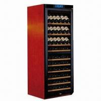 China Wooden compressor wine cooler, 180W rated power on sale