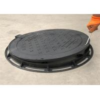 High Strength Ductile Iron Manhole Cover Grey Black Color Eco Friendly Manufactures