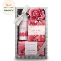 Luxury Body Care Gift Sets Violet Fragrance Pink White Color OEM ODM Service Manufactures