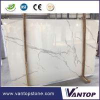 China Calacatta White Artificial Marble Slab Countertop Dining Table Top on sale