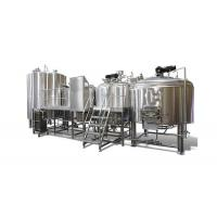 Micro Brewing Systems / 5000L Electric Brewery Dimple Plate Jacket For Fermentation Manufactures