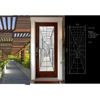 Primed White Decorative Panel Glass  For Doors , Sidelights , Transoms Manufactures