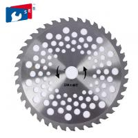 China 230 250 Mm Grass TCT Saw Blade , 36 / 40T Tungsten Carbide Tipped Saw Blade on sale