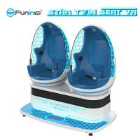China Robot 9D Virtual Reality Simulator Arcade Game Machine Blue With White on sale