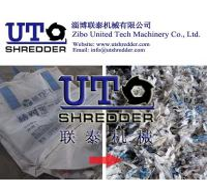 plastic double shaft shredder, plastic granulator - plastic jumbo bag shredder, plastic bag, package bag shredder Manufactures