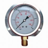 China Liquid/Silicone Oil Filled Pressure Gauge, Designed to Perform in Bugged Applications on sale