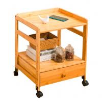 Modern Mini Bamboo Bedside Table / Bedroom Bedside Tables With Wheels Manufactures