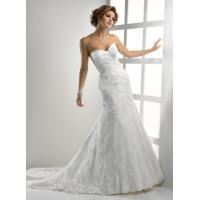 Gorgeous Romantic Lace Wedding Gowns , Sweetheart Strapless Mermaid Dress Manufactures