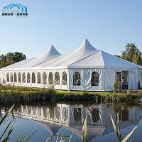 Quality Giant Custom Party Tents Mixed Marquee Party Tent High Peak Cassette Flooring for sale