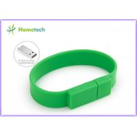 Promotional Gift  Silicone USB Wristband USB Flash Drive 4GB / 8GB Manufactures