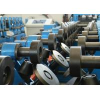 Durable CZ Purlin Roll Forming Machine With Leveling And Hydraulic Punching