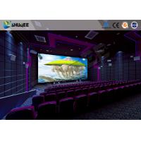 Flat / Arc Screen Movie Theater Seats Sound Vibration Cinema Theater With Special Effect Manufactures