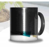 Certification SGS/CE custom LOGO for the change colors mug WITH HANDLE printting photos ceramic cup magic mug Manufactures