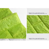China 3D PE Foam Wall Panels Wallpaper Decor Wall stickers - Green Colour on sale