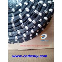 diamond wire saw for marble block squaring with 33 beads Plastic fixing Manufactures