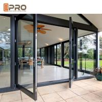Large Size Heavy Duty Aluminium Hinged Doors / Frosted Tempered Glass Door Manufactures