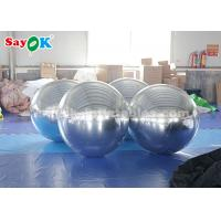 Sliver Giant Inflatable Balloon Mirror Ball Commercial Decoration for sale