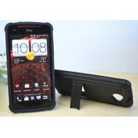 Black Cool Environmental - Friendly Skidproof HTC X920E HTC 3d Phone Cases Without Special Smell Manufactures